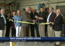 wqad ribbon cutting news coverage